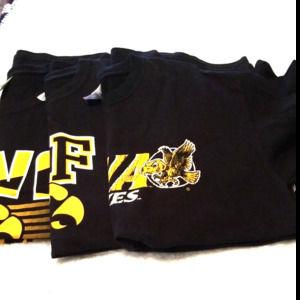 3 Large Iowa Hawkeye Gildan Tshirts